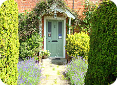 Newhouse Farm Bed & Breakfast: the front door